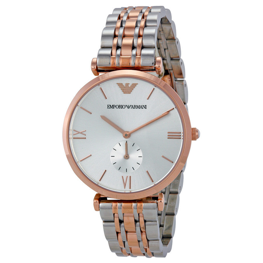 Emporio Silver Dial Two-tone Stainless Steel Bracelet Ladies' Watch