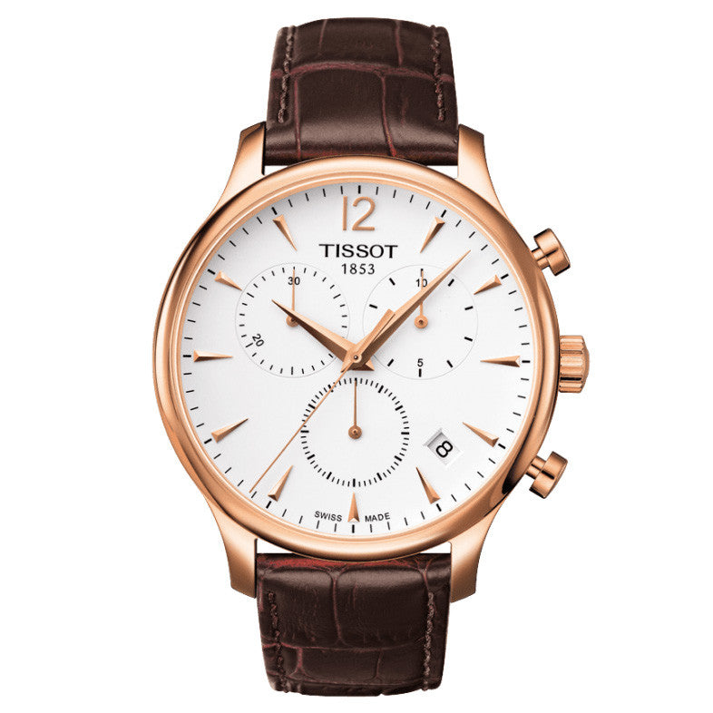 T Classic Tradition Rose Gold Chronograph Men's Watch