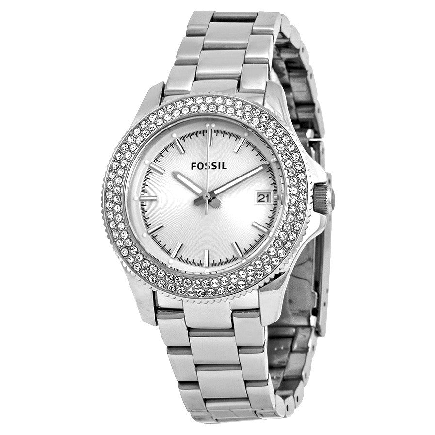 Retro Traveler Silver Dial Stainless Steel Ladies' Watch