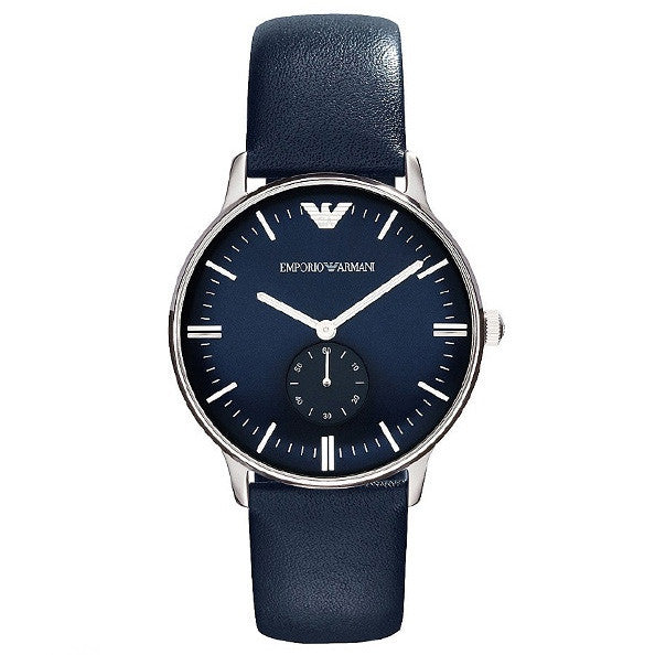 Classic Blue Dial Blue Leather Men's Watch