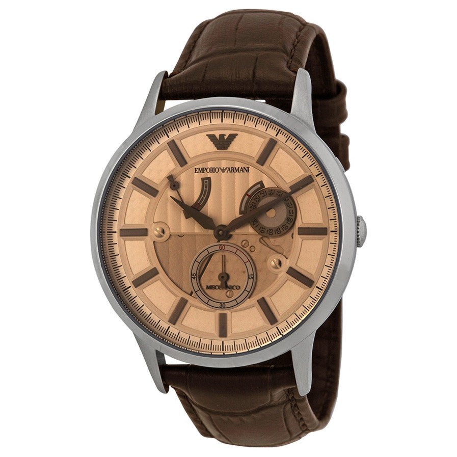 Meccanico Automatic Gold Dial Leather Men's Watch