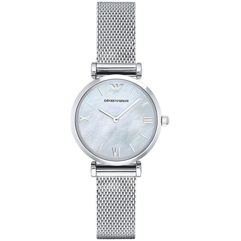 Retro White Mother Of Pearl Dial Ladies Watch