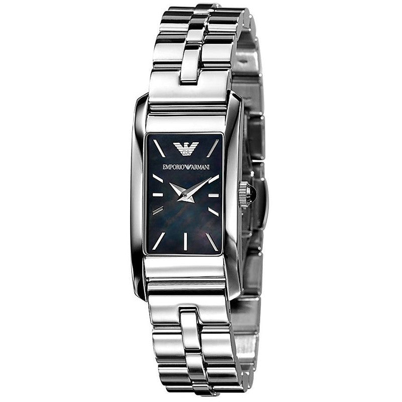 Classic Black Mother of Pearl Dial Stainless Steel Ladies' Watch