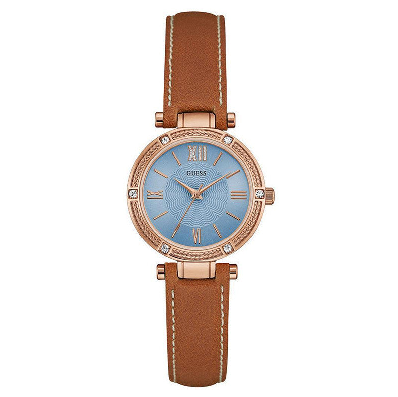 Blue Dial Rose Gold Ladies' Watch