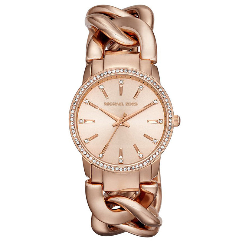 24e790bfa8f4 Michael Kors MK3236 Nini Rose Gold-tone Chain Link Ladies Watch - 32 ...