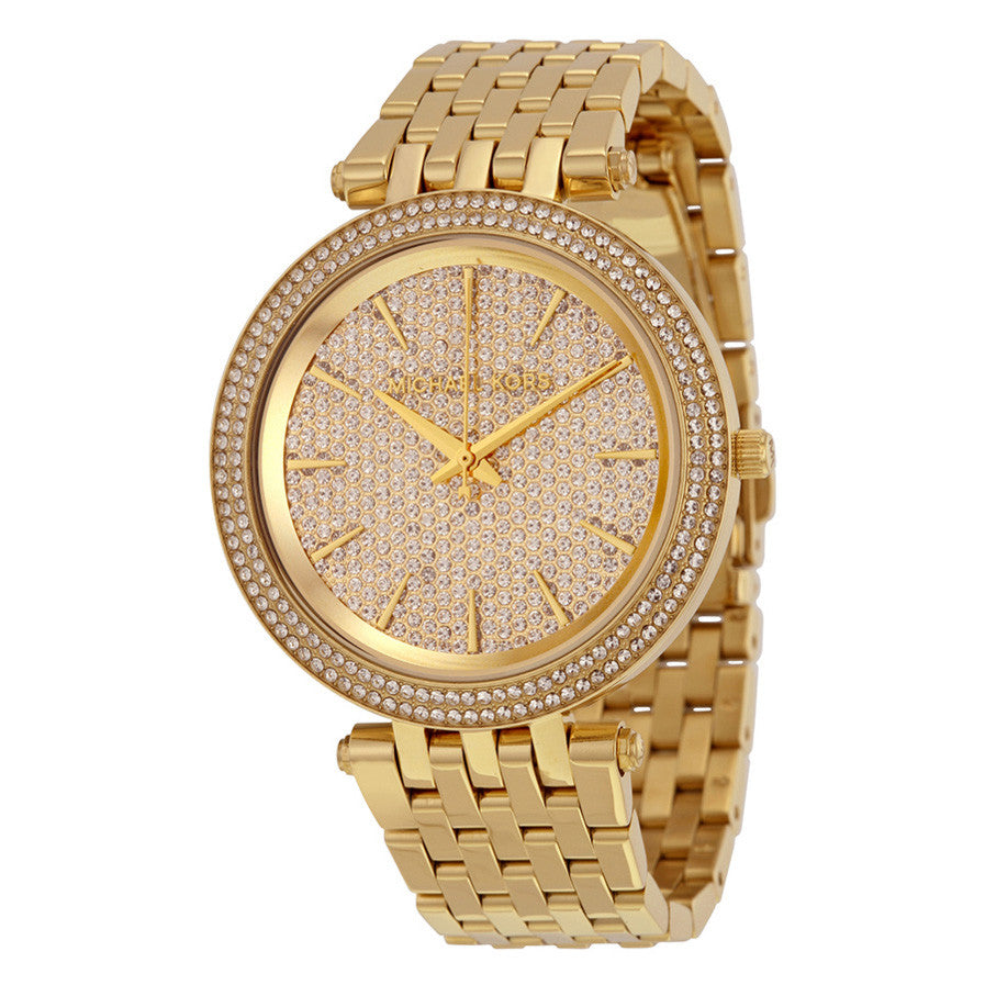 Darci Crystal Pave Gold-Tone Stainless Steel Ladies Watch