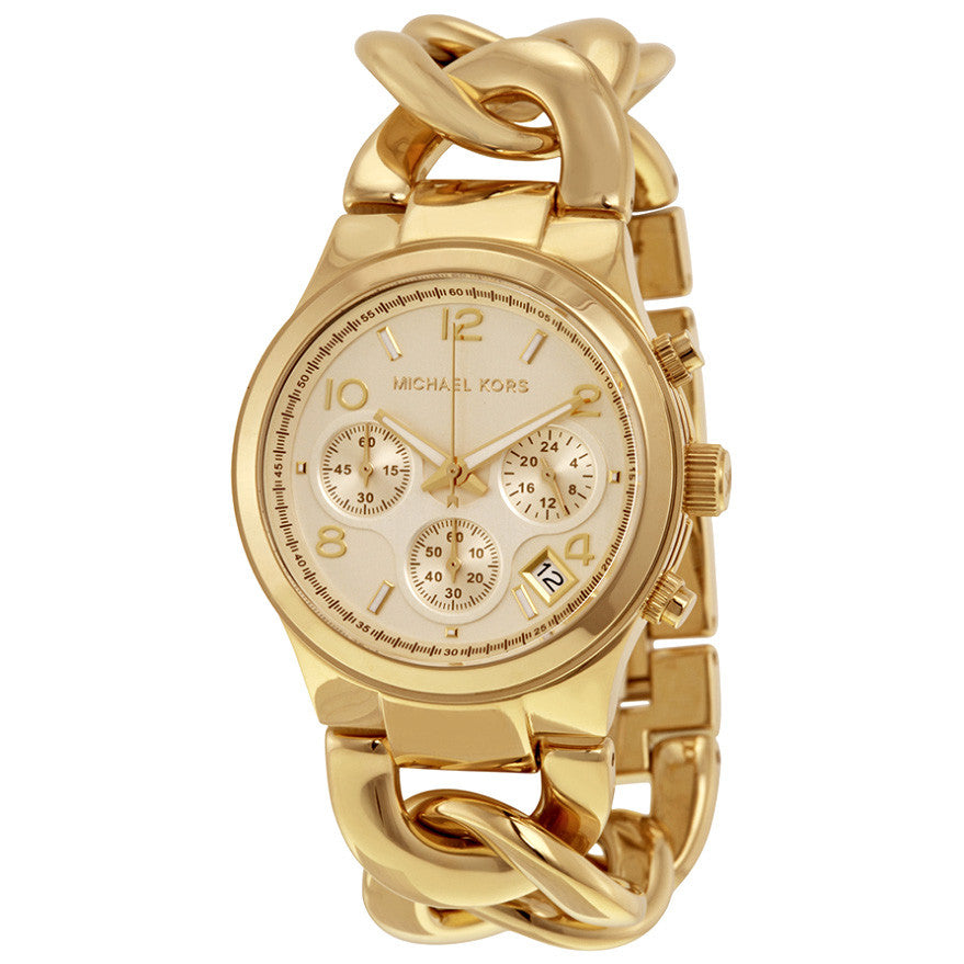 Runway Twist Chronograph Gold-tone Ladies Watch