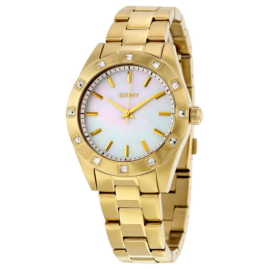 White Mother of Pearl Dial Stainless Steel Bracelet Ladies Watch