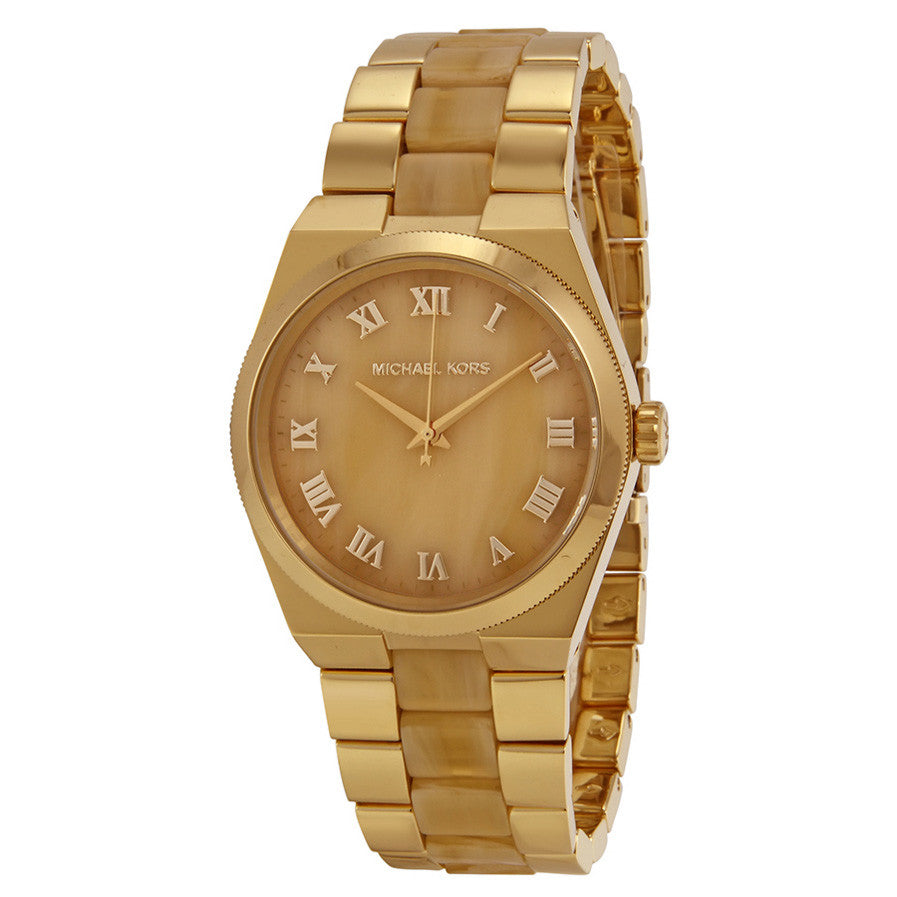 Channing Horn Brown- Gold Dial Quartz Ladies Watch