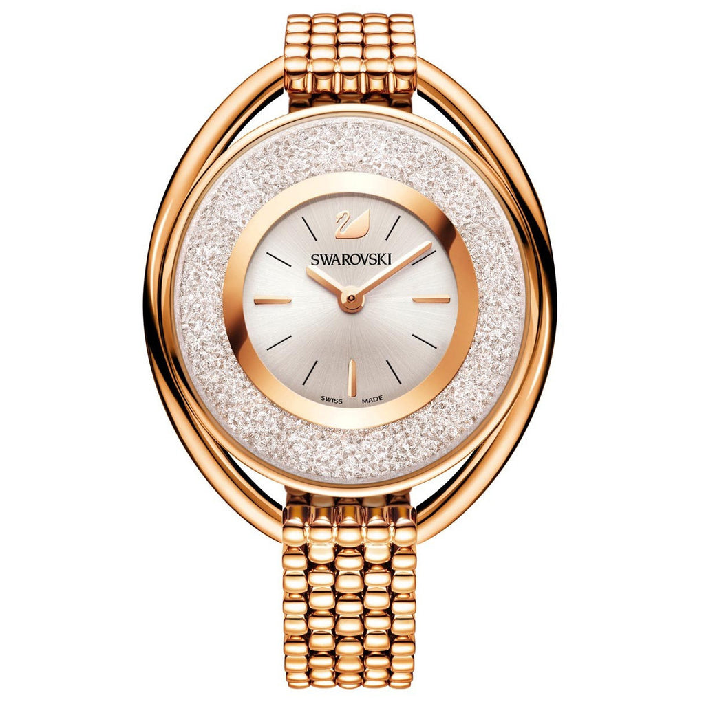 Crystalline Rose Gold-tone Bracelet Ladies Watch