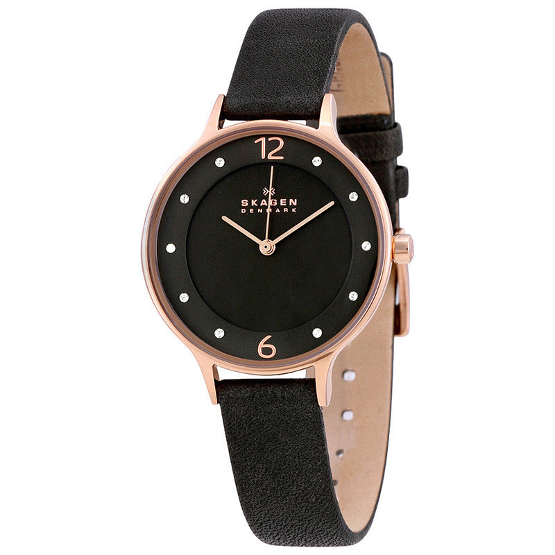 Anita Grey Dial Grey Leather Ladies Watch