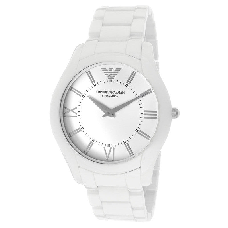 Ceramica White Dial White Ceramic Men's Watch