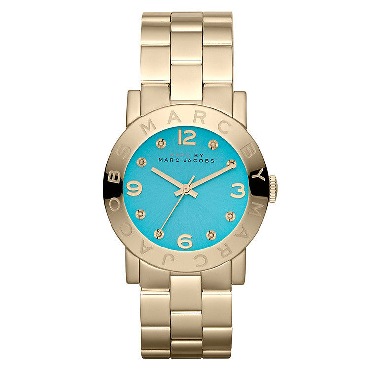 Amy Turquoise Dial Gold-tone Ladies Watch