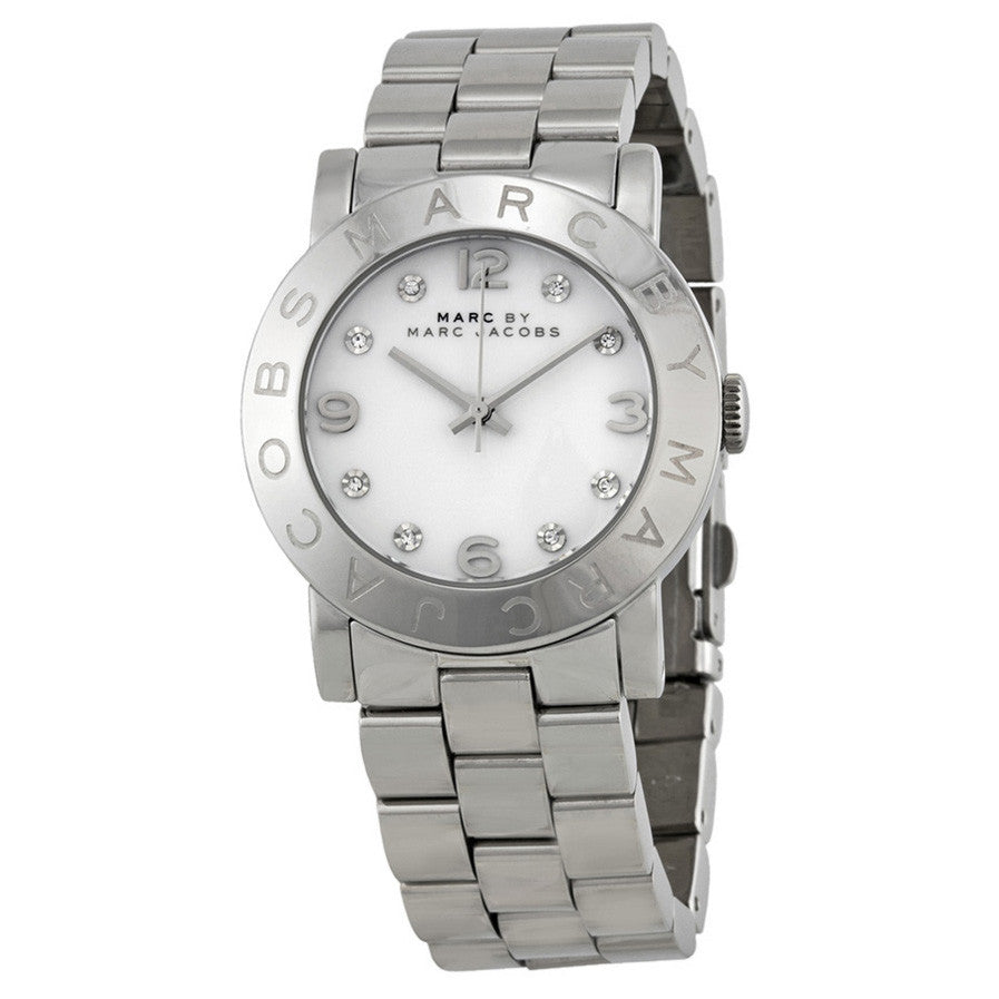 Marc Jacobs Amy White Dial Stainless Steel Ladies Watch