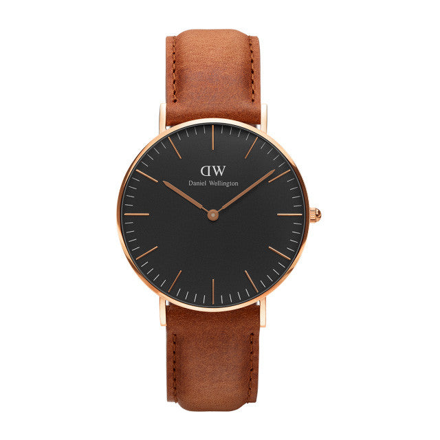 Classic Black Durham Rose Gold 36mm Ladies Watch