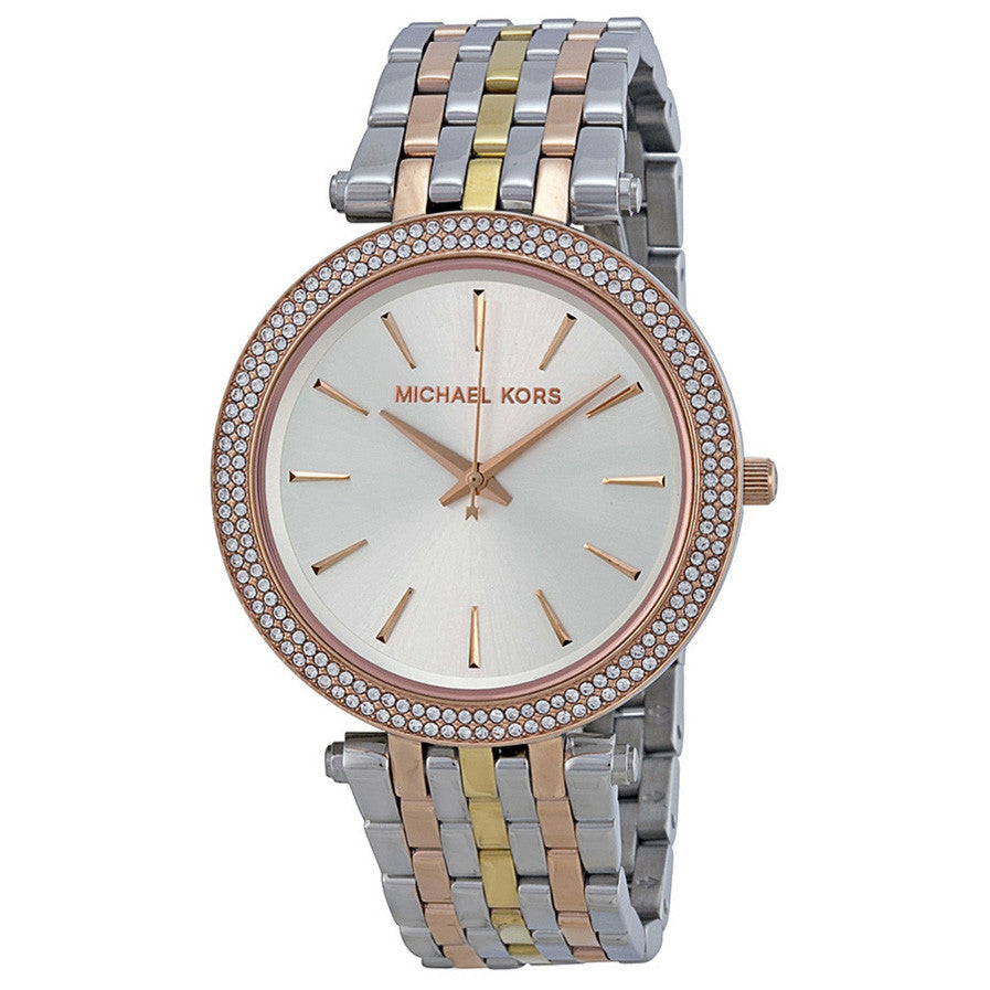 Darci Silver Dial Tri-tone Stainless Steel Ladies Watch