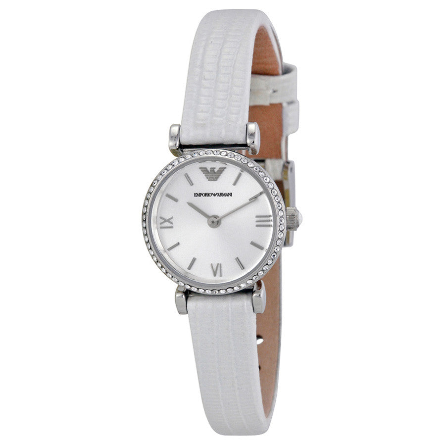 Retro Silver Dial White Leather Strap Ladies' Watch