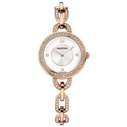 Aila White Rose Gold Tone Bracelet Ladies Watch
