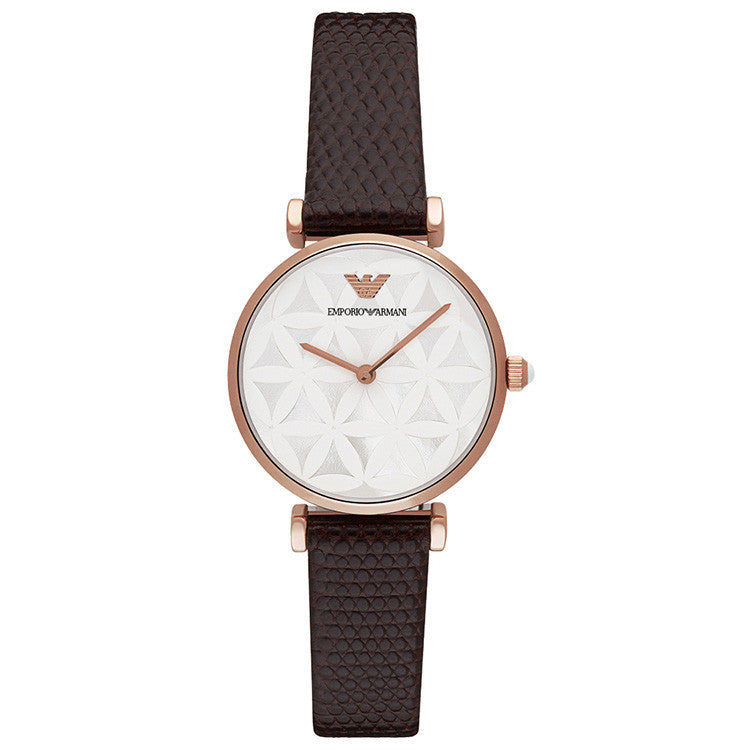 Retro Mother of Pearl Flower-style Dial Ladies Watch