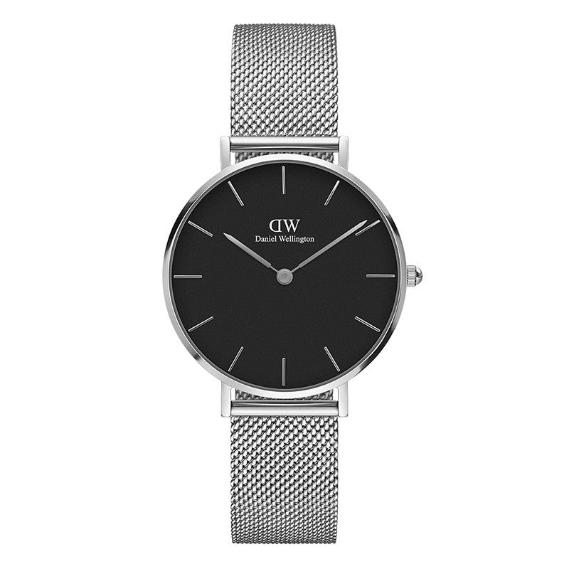 Classic Black Petite Sterling Silver 32mm Ladies Watch