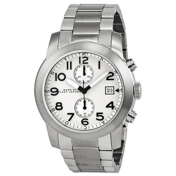 Larry Chronograph White Dial Stainless Steel Men's Watch