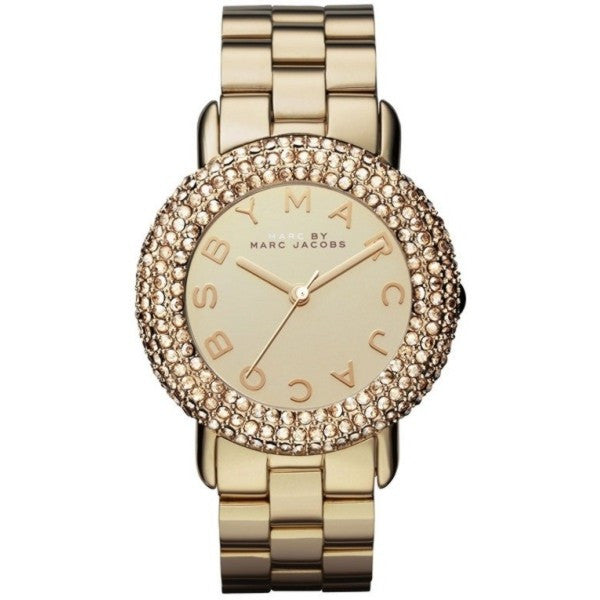 Marci Pave Crystal Gold Bracelet Ladies Watch