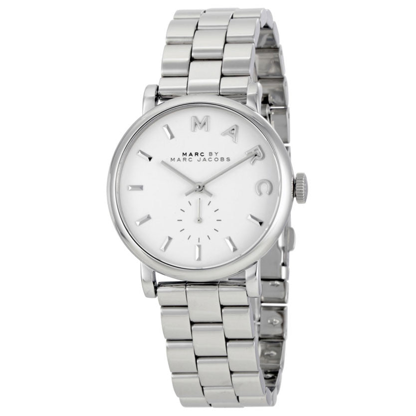 Baker White Dial Steel Ladies Watch