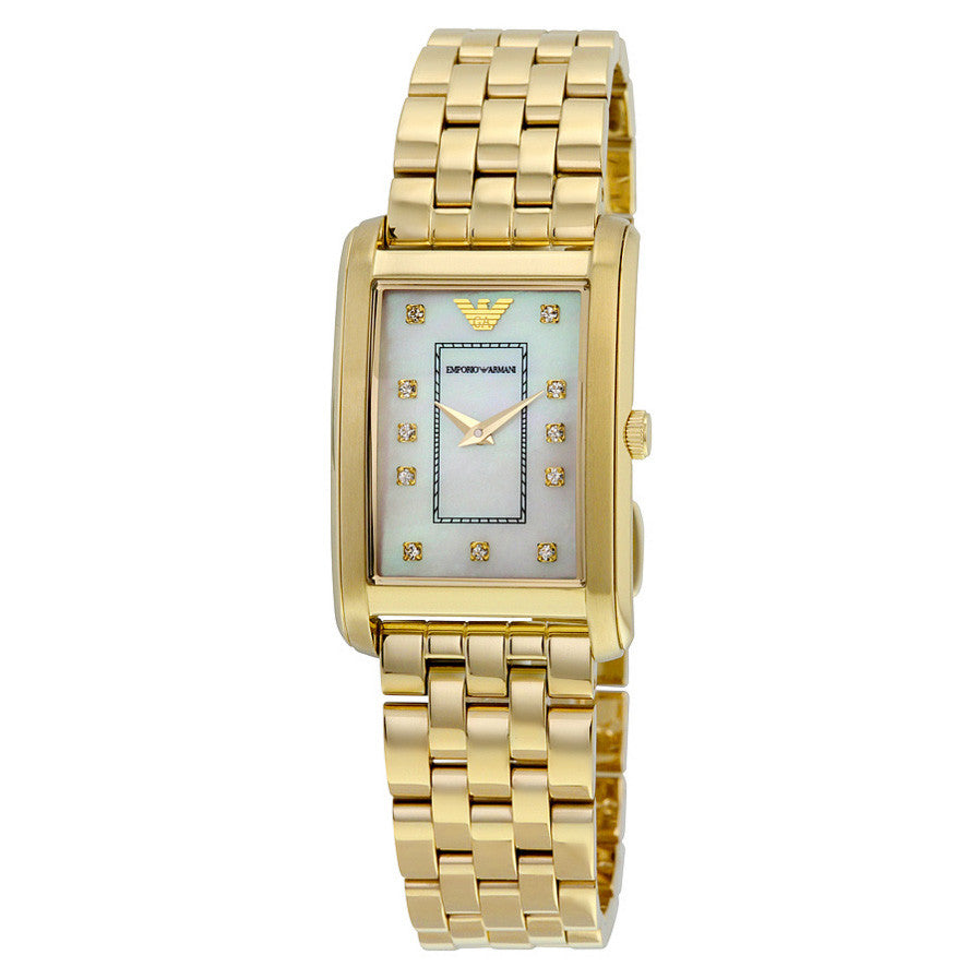 Classic Mother Of Pearl Dial Gold-tone Stainless Steel Ladies Watch