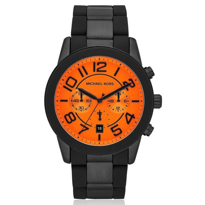 Oversized Bright Orange Dial Men's Watch