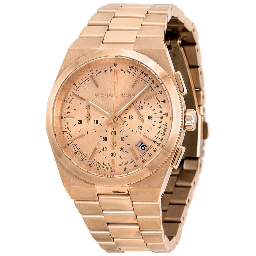 Channing Chronograph Rose Dial Rose Gold-tone Ladies Watch