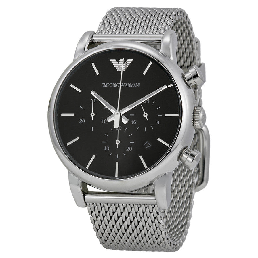Emporio Classic Chronograph Black Dial Steel Men's Watch