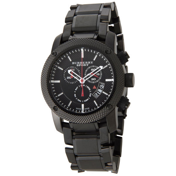 Black Ion-Plated Stainless Steel Chronograph Watch