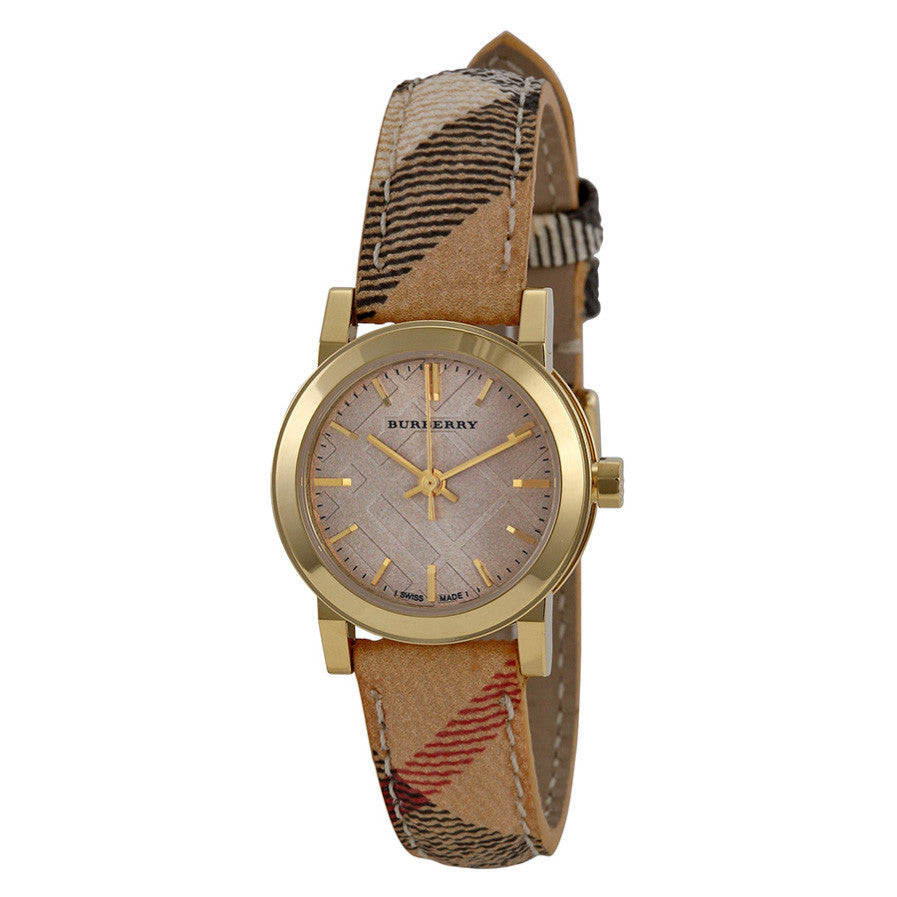 Gold Dial Haymarket Check Fabric Ladies Watch