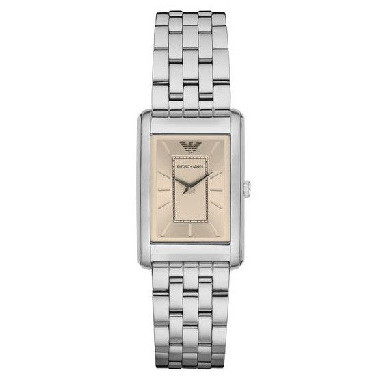 Classic Gold Dial Stainless Steel Quartz Ladies Watch
