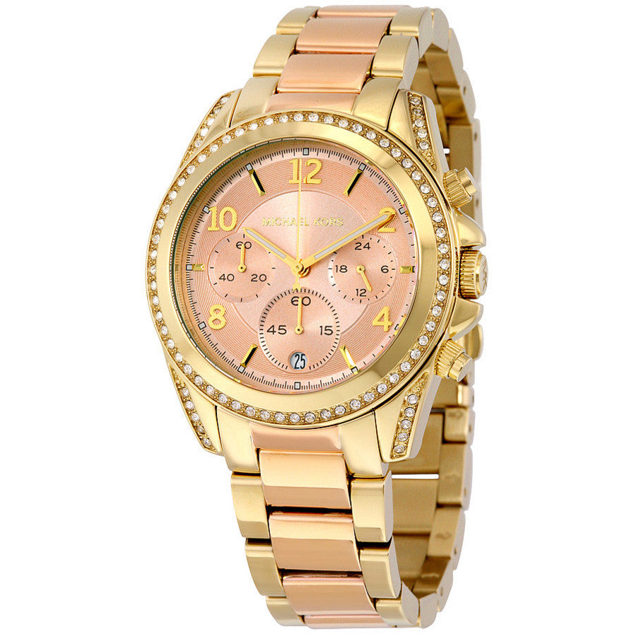 Blair Rose-Tone Dial Two Tone Stainless Steel Ladies Watch