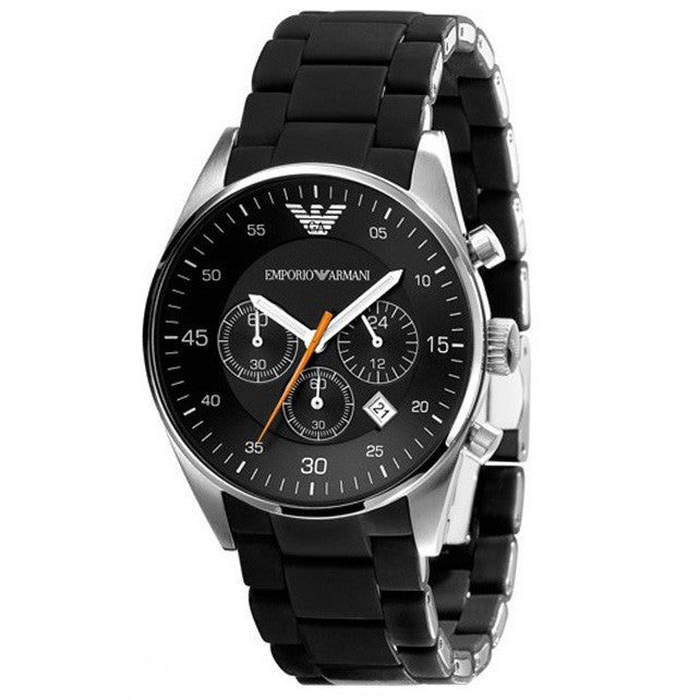 Emporio Sport Chronograph Black Dial Men's Watch