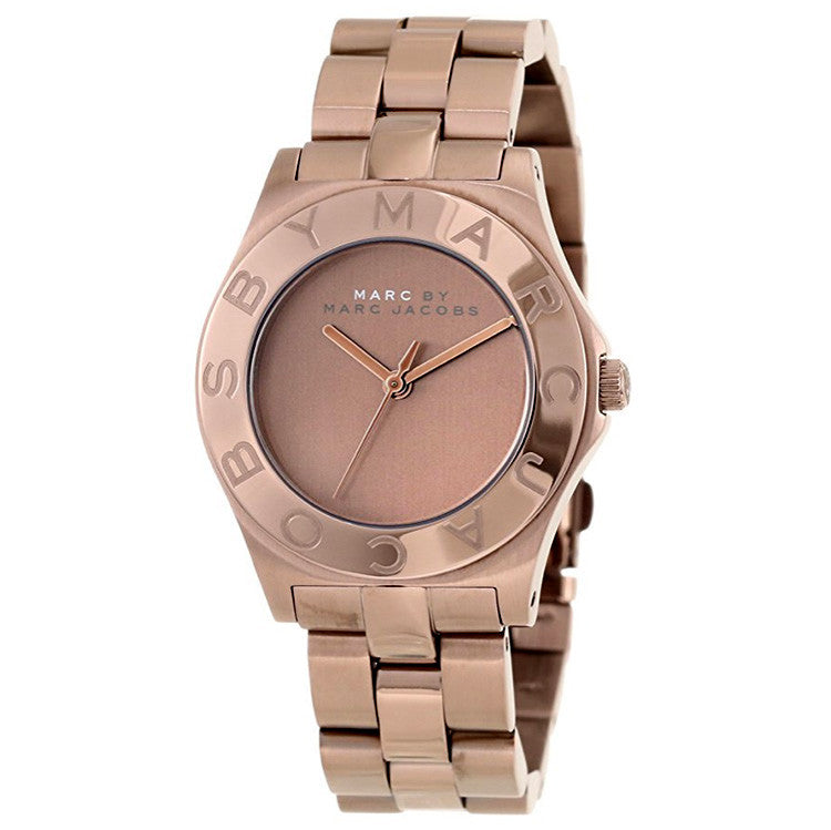 Blade Brown Dial Brown-tone Stainless Steel Ladies Watch