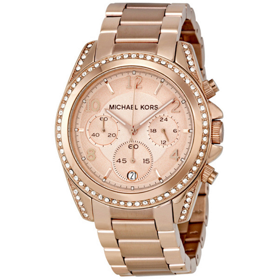 Blair Rose Gold-tone Chronograph Ladies Watch