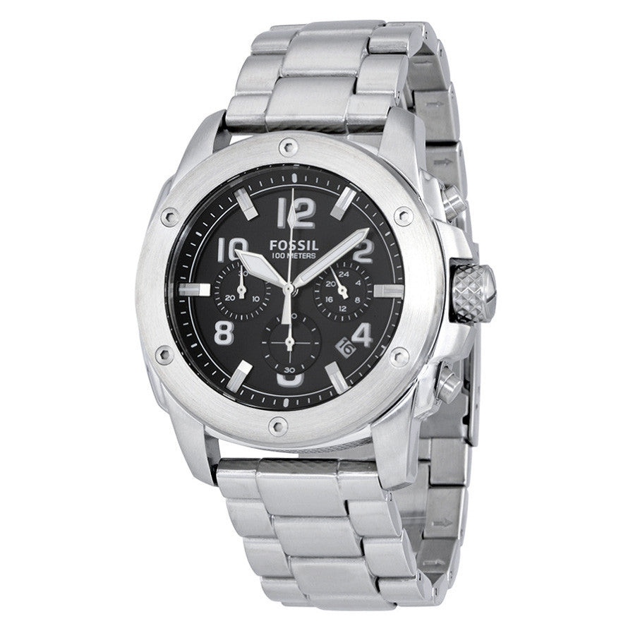 Modern Machine Chronograph Black Dial Stainless Steel Men's Watch