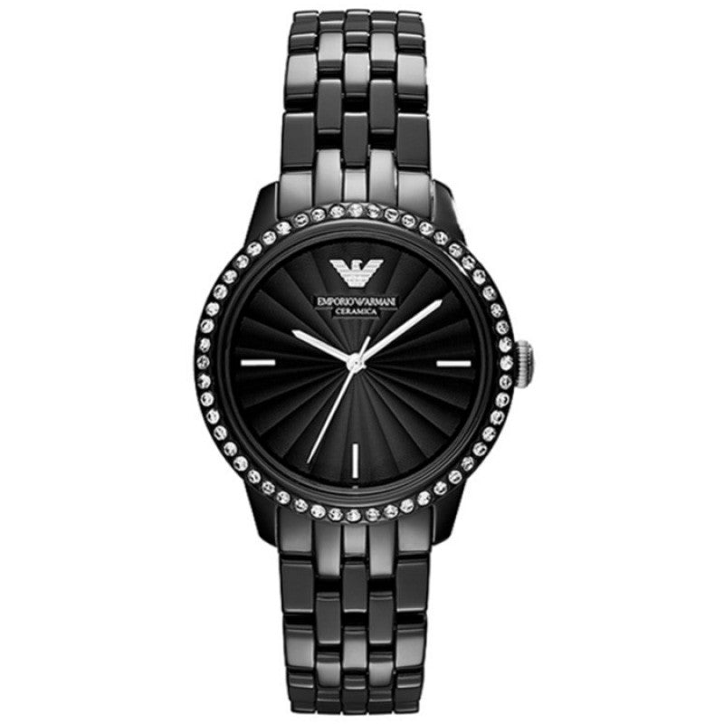 Ceramica Black Dial Black Ceramic Ladies Watch