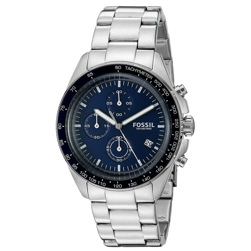 Sport Chronograph Blue Dial Stainless Steel Men's Watch