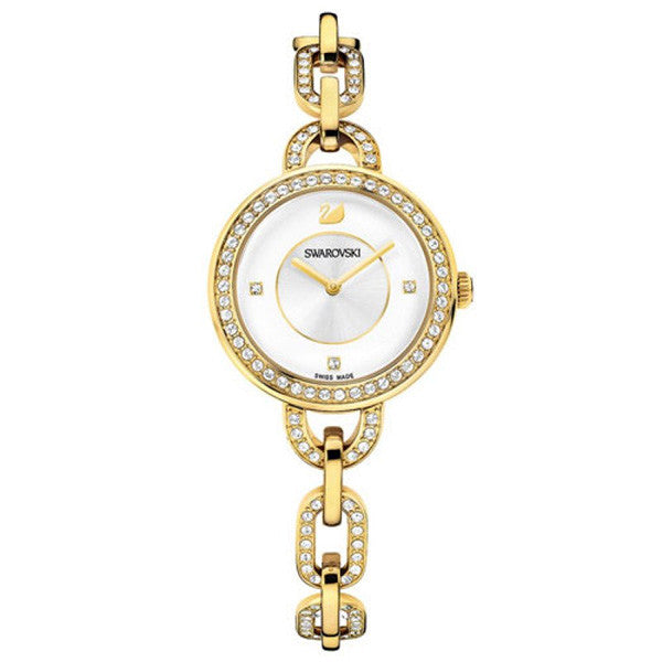 Aila White Gold Tone Bracelet Ladies Watch