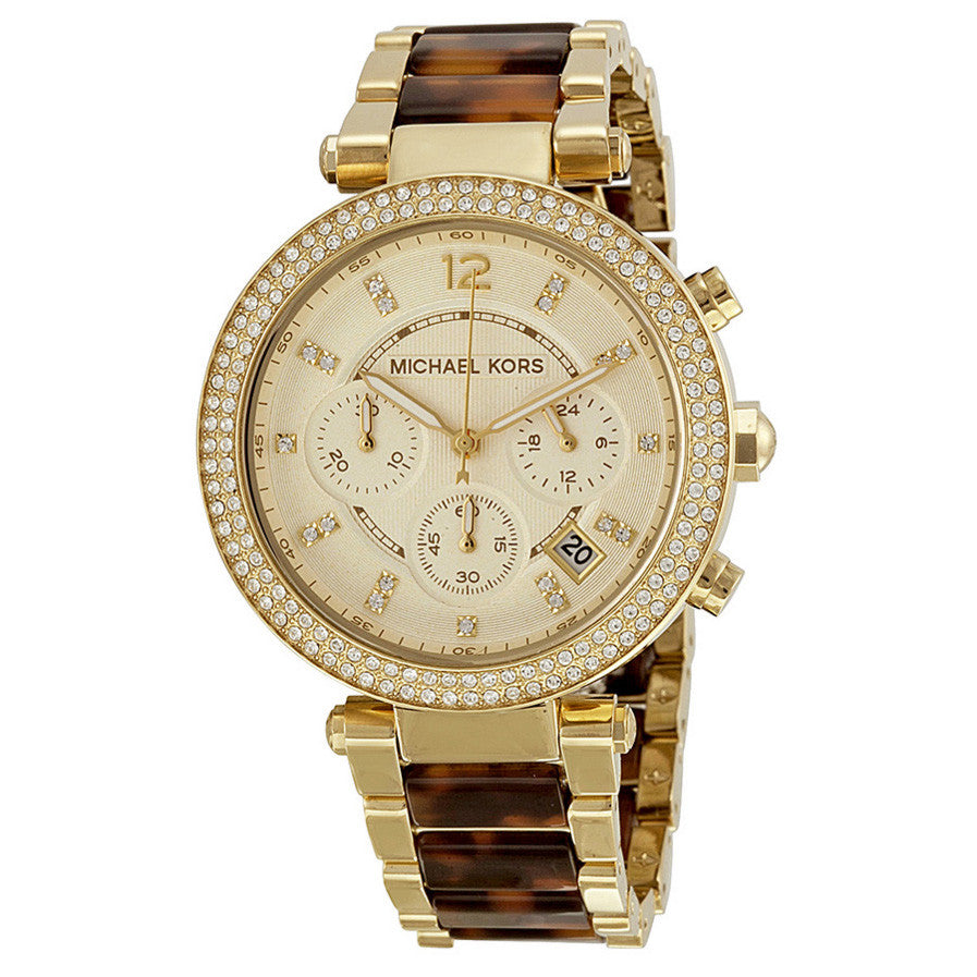 Parker Chronograph Tortoiseshell Ladies Watch