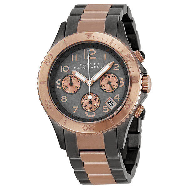 Chronograph Grey Dial Two-tone Men's Watch