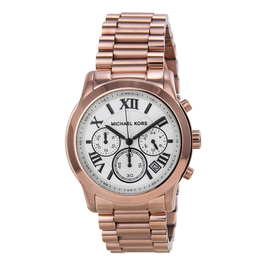 Cooper Chronograph White Dial Rose Gold-tone Ladies Watch