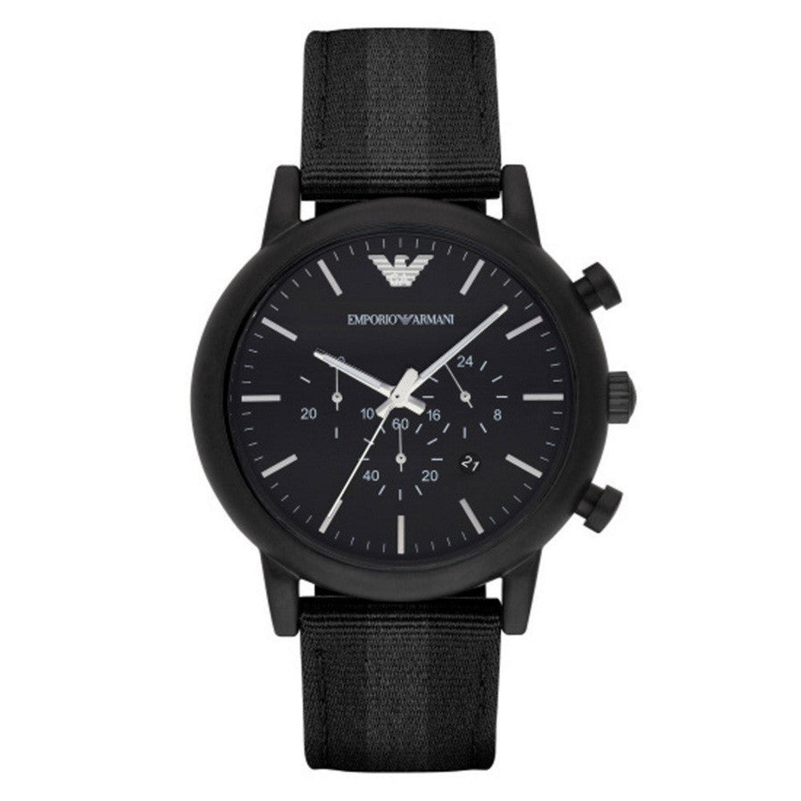 Luigi Black Dial Men's Chronograph Watch