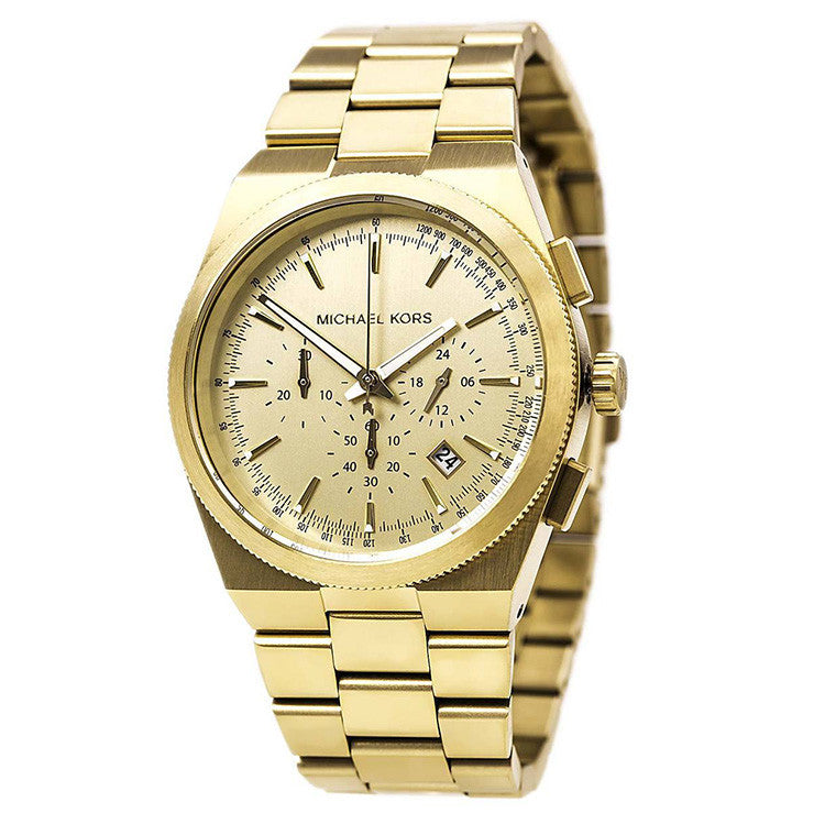 Channing Chronograph Gold Dial Gold-plated Men's Watch