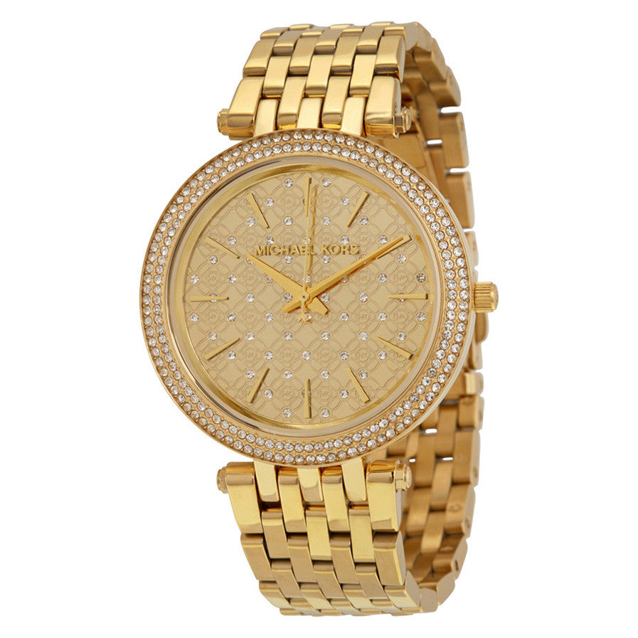 Darci Gold Crystal-set Dial Gold-tone Ladies Watch