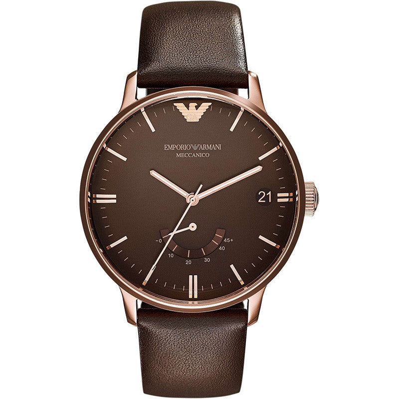 Emporio Meccanico Automatic Brown Dial Brown Leather Men's Watch