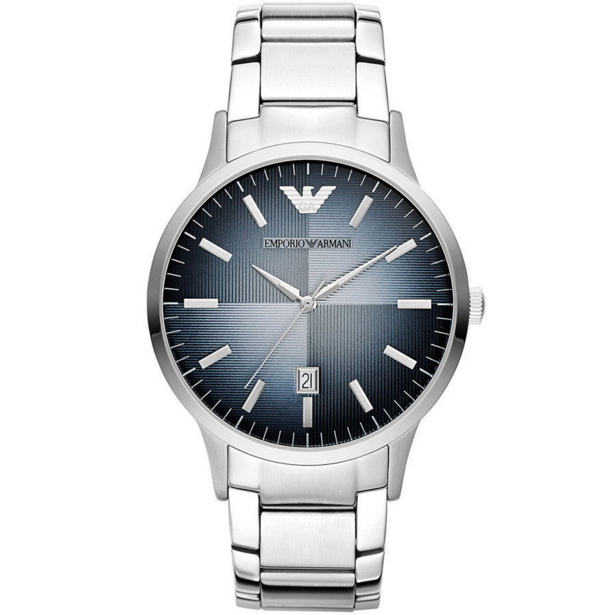 Classic Blue Textured Dial Men's Watch